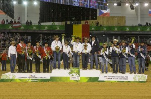 Reining Team Podium-WEG CAEN-26Aug2014